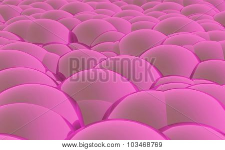 3D Spheres Crossover Pink