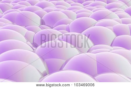 3D Spheres Crossover Purple