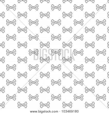 Bones Pattern Black And White