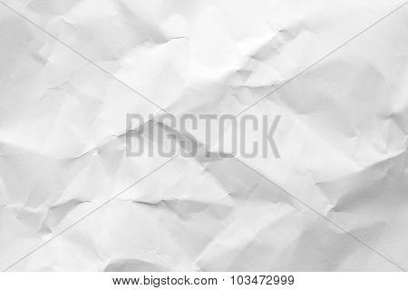 Closeup of white paper texture