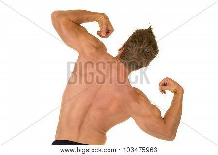 Shirtless Strong Man Flex Back Tilt