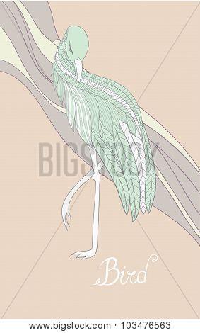 Card with a bird.