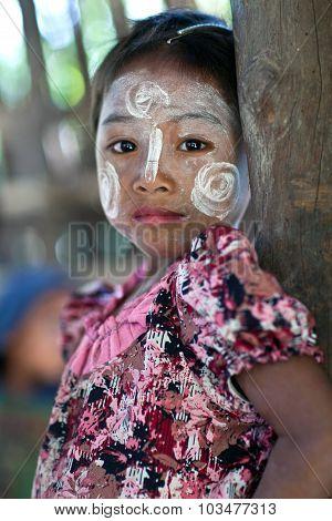 Burmese schoolgirl