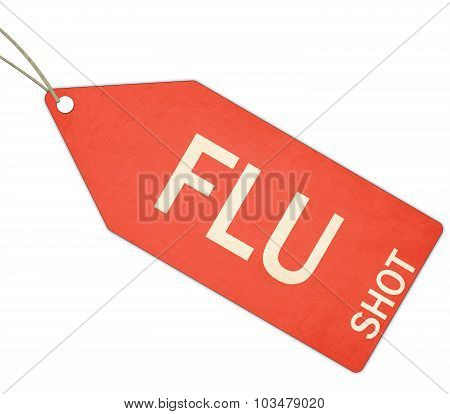 Red Flu Shot Tag
