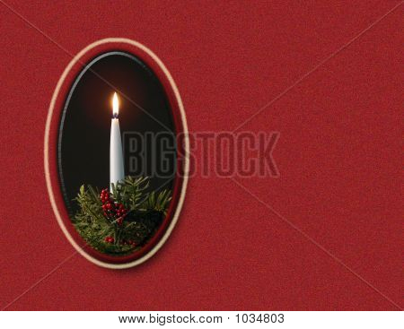 Candle On  Red