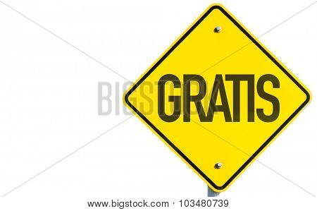 Gratis sign isolated on white background