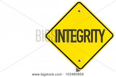 Integrity sign isolated on white background
