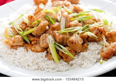 Orange Chicken Sauce With Rice