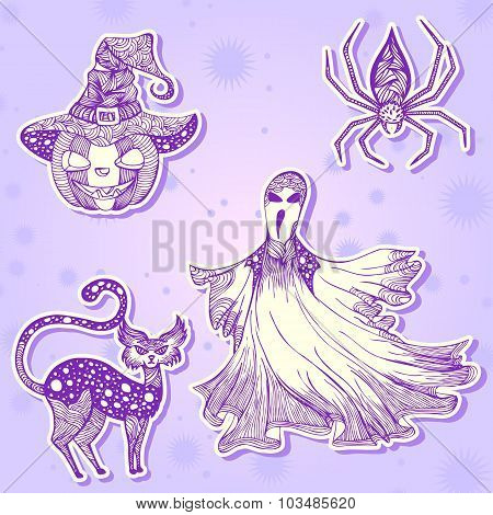 Decorative drawing stickers for Halloween part 2