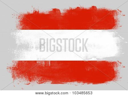 Flag Of Austria Painted With Brush