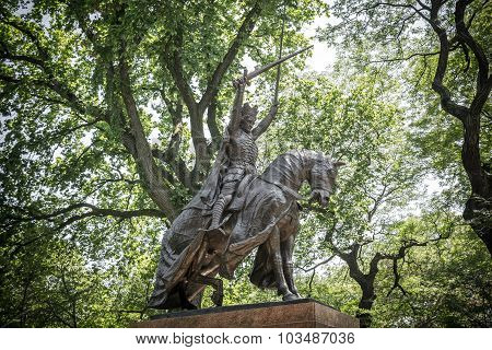 King Jagiello Monument, Central Park, New York
