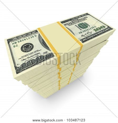 Money Stack Isolated On White