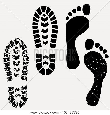 Footprint, shoes print