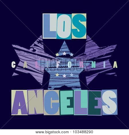California T-shirt fashion - vectors