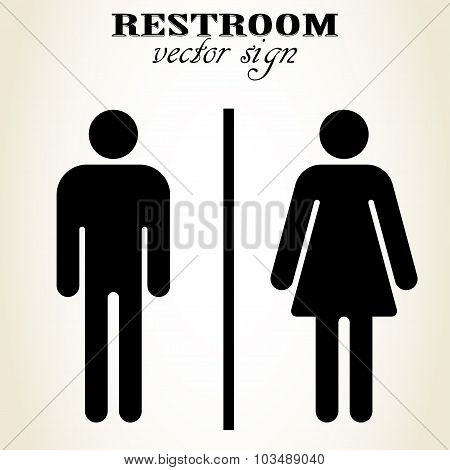 Male and Female Restroom sign - vector