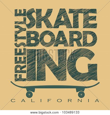 Skateboarding t-shirt graphics