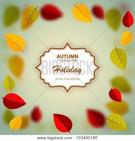 autumn nature blurred background