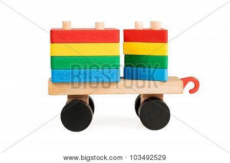 Children Wooden Wagon - Pyramid