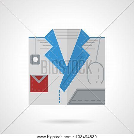 Doctor symbol flat color vector icon