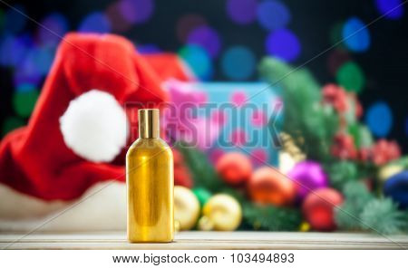 Perfume Bottle On Christmas Lights