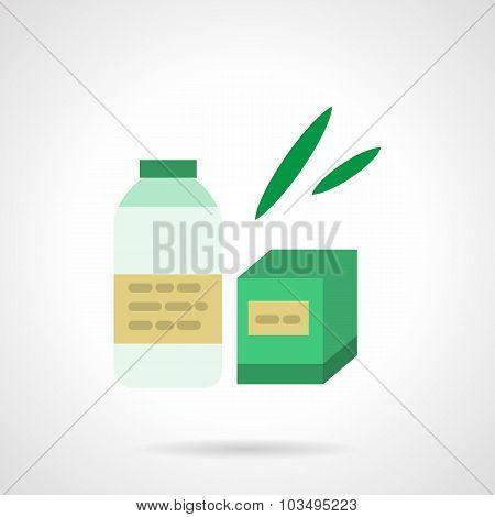 Milk formula flat color vector icon