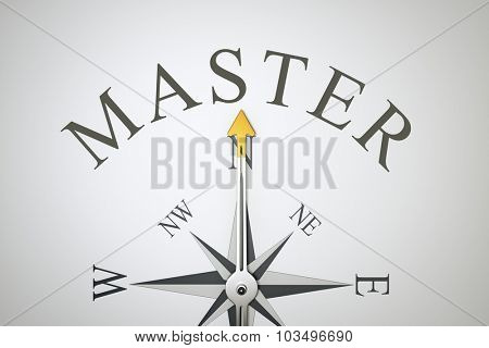 An image of a nice compass with the word master