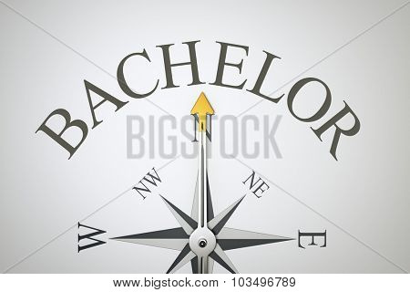 An image of a nice compass with the word bachelor