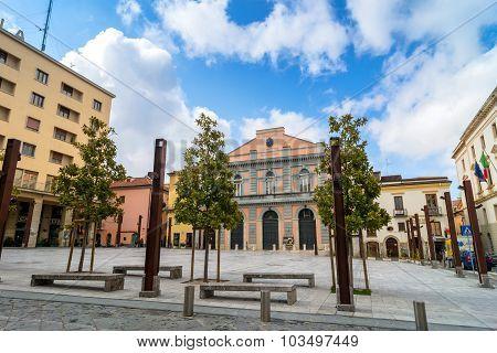 Main Square In Potenza, Italy