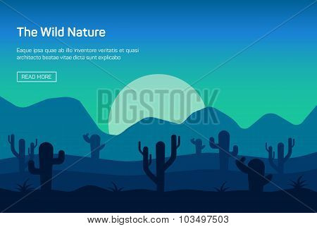 Horizontal banner with wild nature