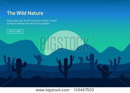 Horizontal banner with wild nature