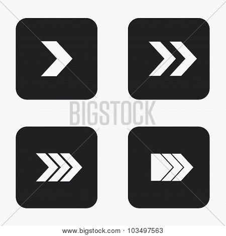 Vector modern arrow icons set