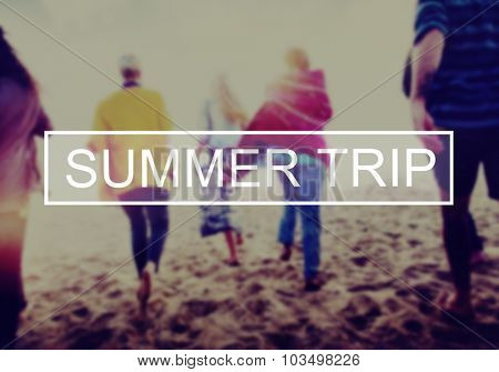 Summer Holiday Relaxation Travel Vacation Concept