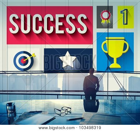 Success Successful Goal Achievement Complete Concept