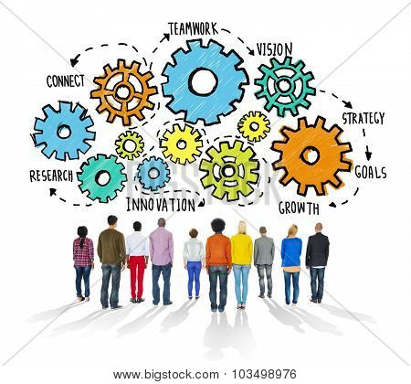 Strategy Cooperation Teamwork Connect Innovation Concept