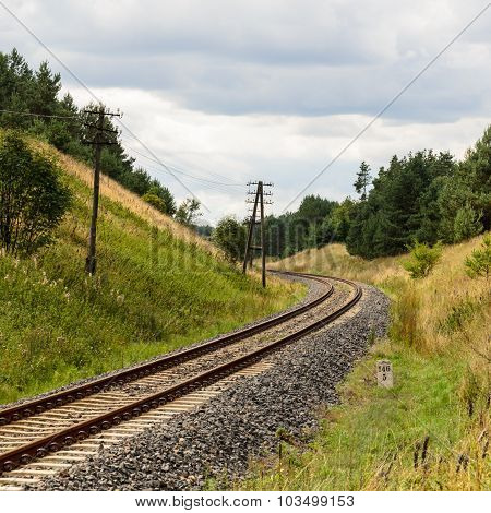 railway track with curve