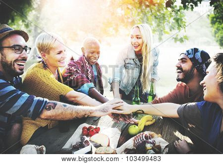 Team Friendship Leisure Vacation Togetherness Fun Concept