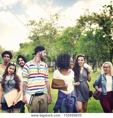 College Park Garden Togetherness Unity Friendship Concept