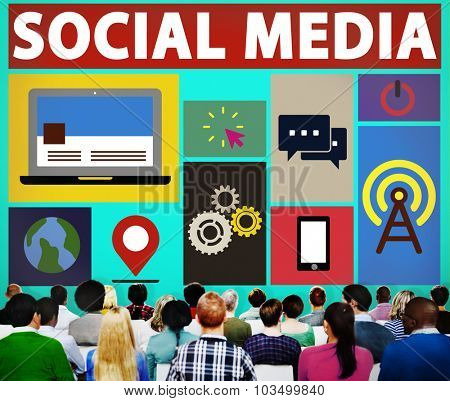 Social Media Social Networking Connection Media Link Concept
