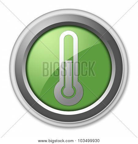 Icon, Button, Pictogram Temperature
