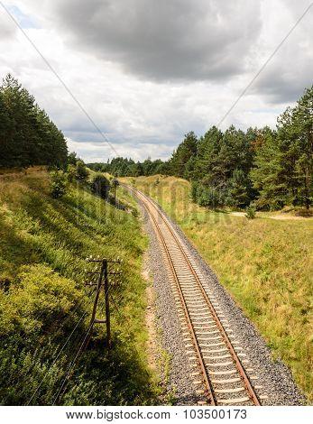 Railroad in nature