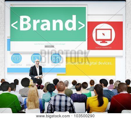 Brand Marketing Web Page Seminar Presentation Concept