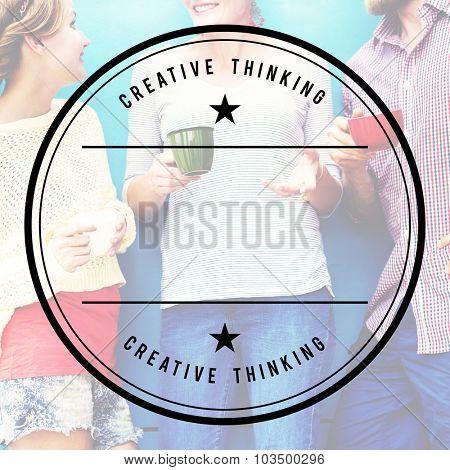 Creative Thinking Coffee Break Friends Concept