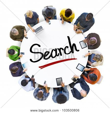 People Social Networking and Search Concept