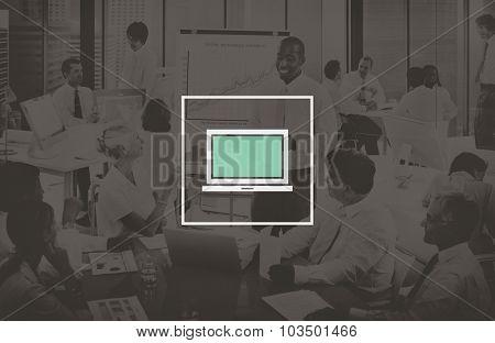 Laptop Computer Technology Digital Device Concept