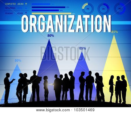 Organization Company Group Corporate Network Concept