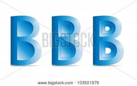B character Logotype icon vector, Letter Logo design