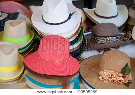 .different Types And Models Of Hats Numerous Colors