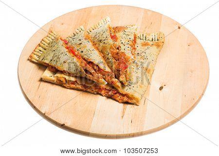 Nice quesadilla isolated on white
