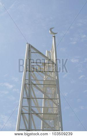 Minaret of Ara Damansara Mosque in Selangor, Malaysia