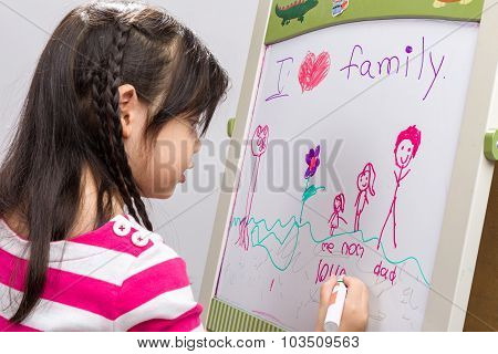 Family Concept Background / Family Concept / Family Concept On Isolated White Background